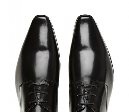 Black Polished Tuxedo Shoes