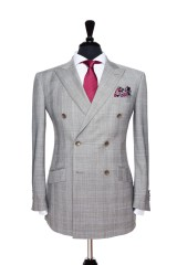 2014 Spring/Summer Collections Light Grey Prince of Wales Suit