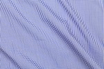Close Up View of Blue Mini Gingham Shirt Fabric