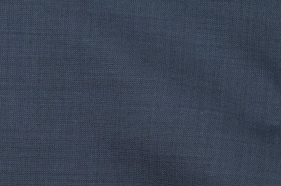 Close Up view Pocket Square Navy Plain Fabric in super 110s wool