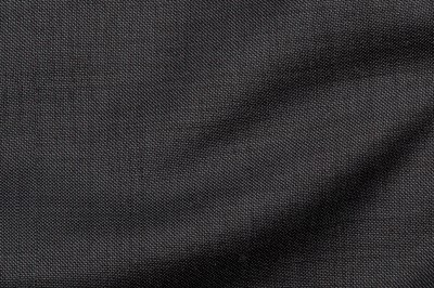 Close Up view Pocket Square Charcoal Plain Fabric in super 110s wool
