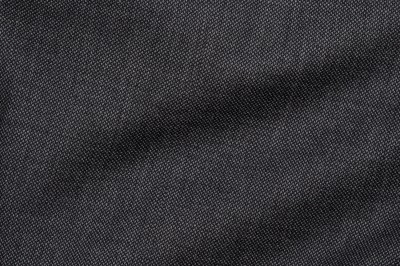 Close up view of Pocket Square's Marcato Grey Birdseye Fabric in Super 110s