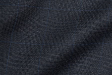 Close up view of Bluestone Prince of Wales Fabric in Super 120s