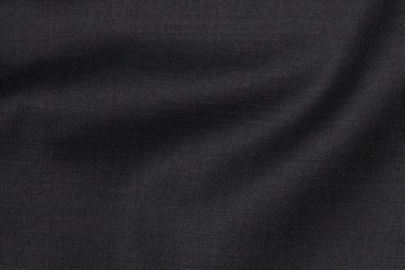 Close up view of Aston Charcoal Fabric in Super 130s