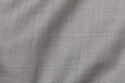 Close up view of Brixton Grey Fabric in Super 130s