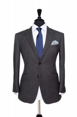 Front Mannequin of Pocket Square's Grey Birdeye suit
