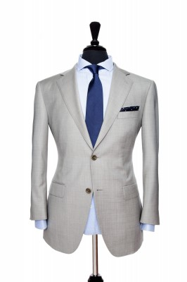 Front Mannequin View of Pocket Square's Brixton Grey Suit