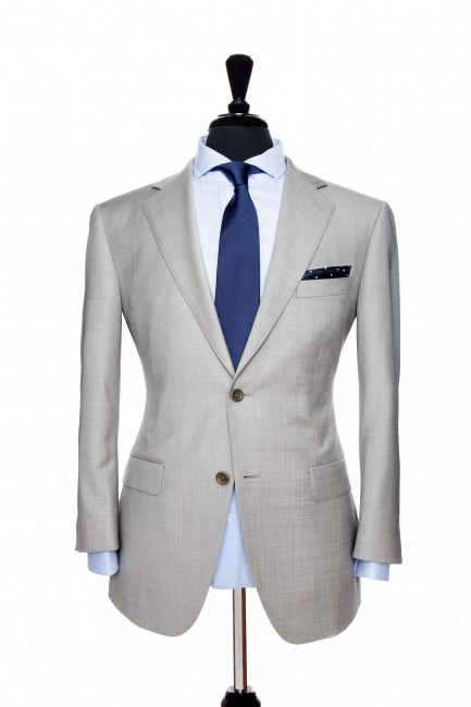 Front Mannequin View of Pocket Square's Brixton Grey Suit