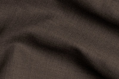 Close up view Pocket Square Brown Plain Fabric in Super 120s