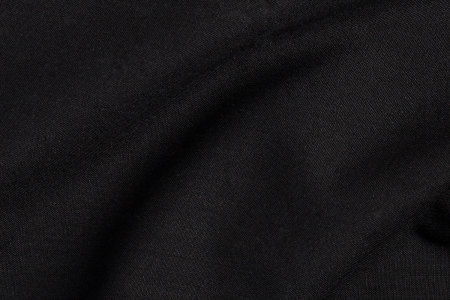 Close up view of Black Sharkskin Plain Fabric in Super 110s