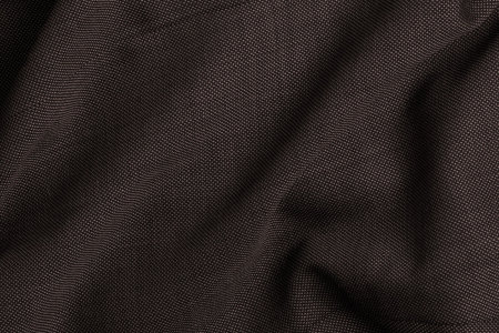 Close up view Pocket Square Marcato Brown Birdseye Plain Fabric in Super 120s